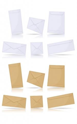 kuoret, kirjekuoret, kirjepussit